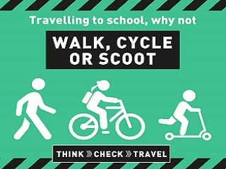 Walk, cycle or scoot to school