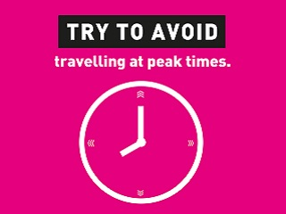 Try to avoid travelling at peak times