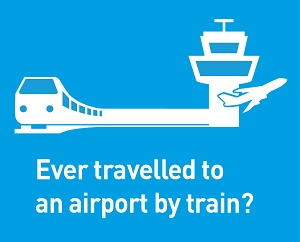 Do you travel by train to the airport?