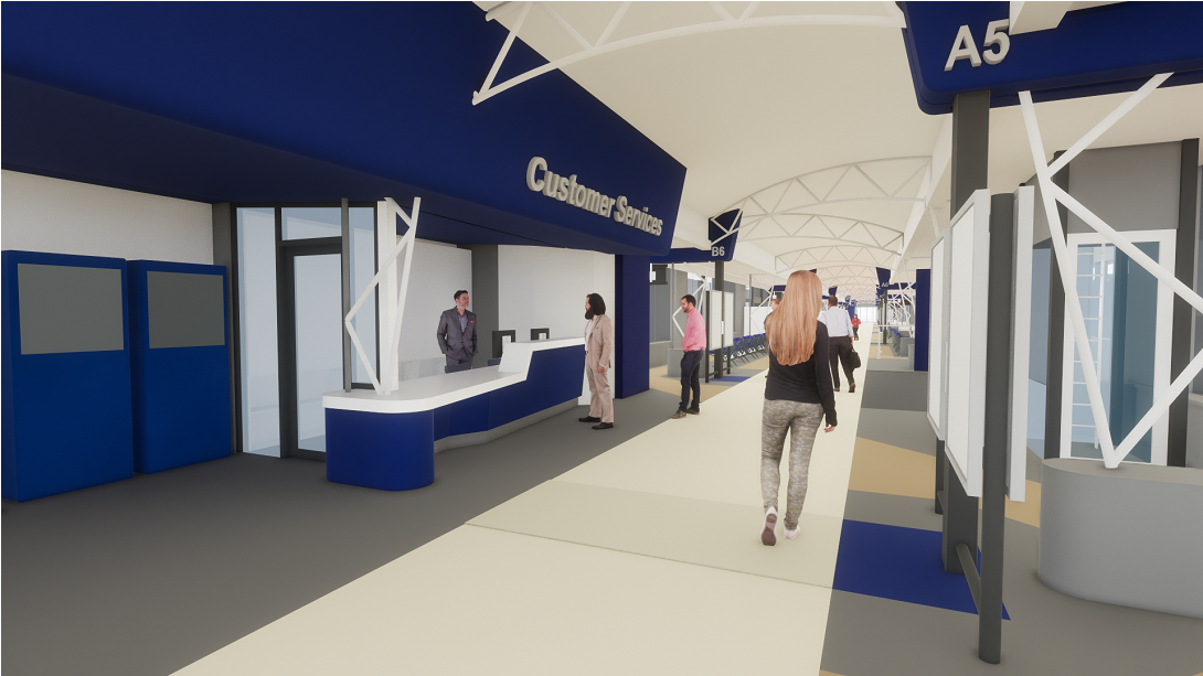 Rotherham Interchange virtual reality image