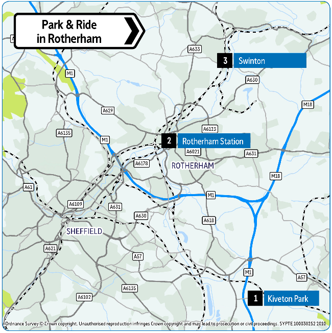 Rotherham Park and Ride locations 2019