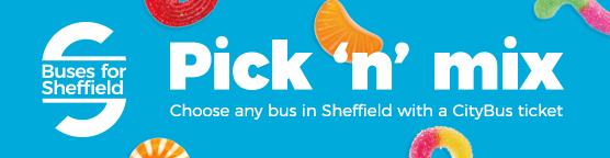 Buses for Sheffield Pick n mix web banner