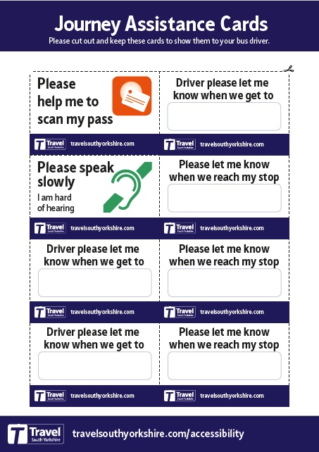 Travel Assistance Cards colour image side 2